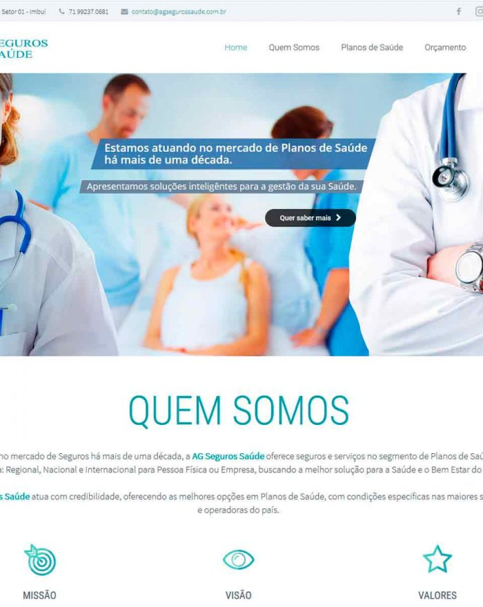 AG Seguros Saúde empresa de seguros e serviços no segmento de Planos de Saúde com cobertura: Regional, Nacional e Internacional para Pessoa Física ou Empresa.