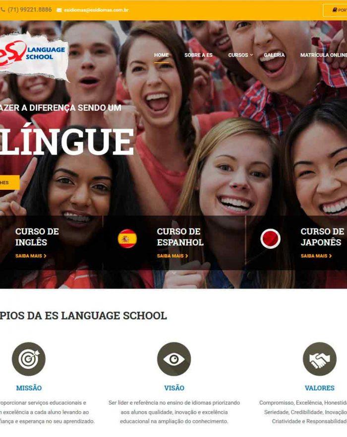 A Escola ES English online é uma escola moderna de idiomas do Brasil, com o objetivo de revolucionar o ensino e o aprendizado nos mais variados idiomas atendendo as necessidades dos alunos.