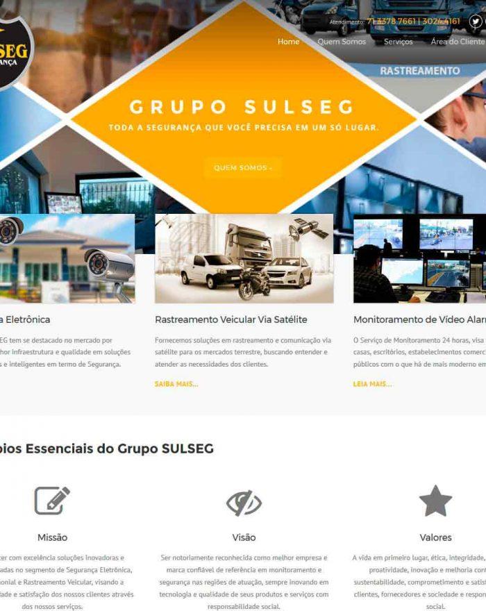 O Grupo SULSEG é a junção de Empresas com mais de 10 anos no mercado, voltada para Segurança Eletrônica, Patrimonial e Rastreamento Veicular, tem como cliente empresas de grande e pequeno porte, condomínios e residências.